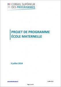 CSE Programme maternelle