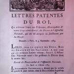 Lettres patentes du roi