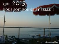 Que 2015 vous soit bonne et belle!